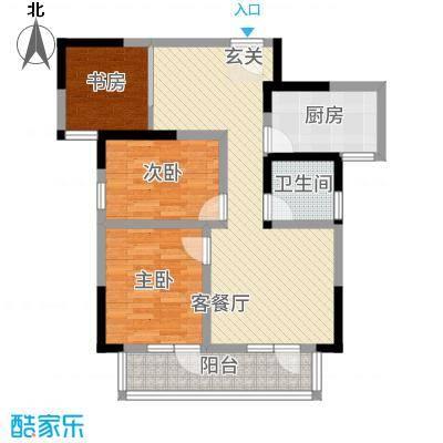 满庭春MOMΛ31.22㎡A户型3室2厅1卫1厨