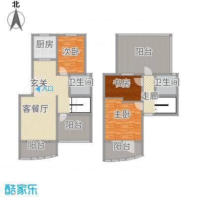 永成时代广场135.20㎡一期A叠户型3室2厅2卫1厨