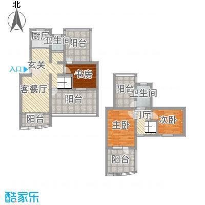 永成时代广场146.20㎡一期C叠户型3室2厅2卫1厨