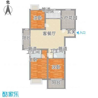 凯帝京都1322142.25㎡A户型3室2厅2卫1厨