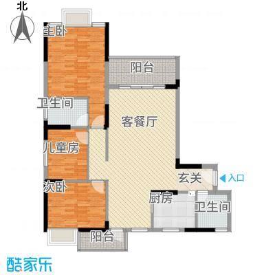 全顺・曼弄枫情126.40㎡A户型3室2厅2卫1厨