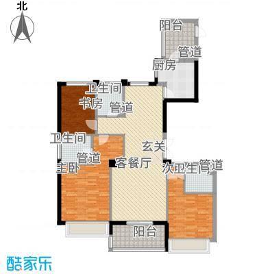 滨江城市之星141.20㎡g户型3室2厅2卫1厨