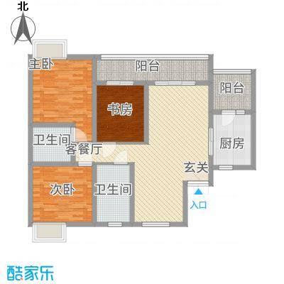 水岸花都214613120.00㎡户型2室2厅2卫1厨
