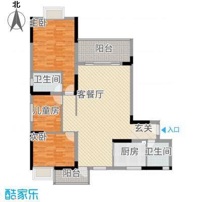 全顺・曼弄枫情12.10㎡A3户型3室3厅3卫1厨
