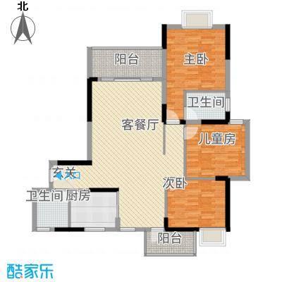 全顺・曼弄枫情13.32㎡A1户型3室2厅2卫1厨