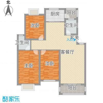 翠竹苑32121.20㎡户型3室2厅2卫1厨