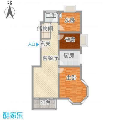 广陵幸福家园1414513.25㎡1401450394175_副本户型3室2厅2卫1厨