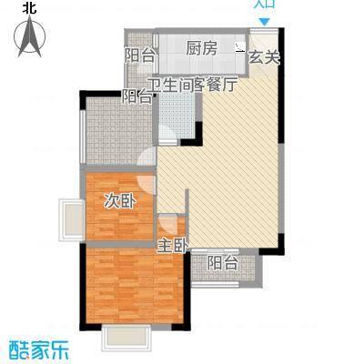 美丽泽京28.71㎡C-2户型2室2厅1卫