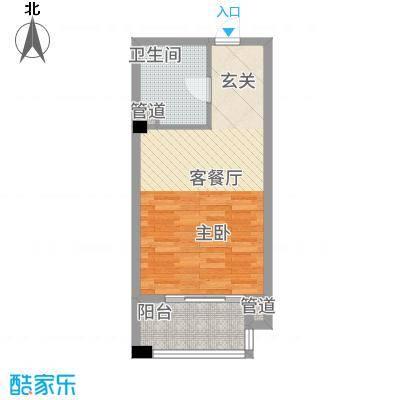 金融街中央领御152.82㎡1号栋花样年华公寓户型1室1厅1卫