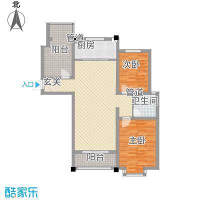 豪门又一城58115.47㎡一期58#、66-71#楼标准层奇数层C户型3室2厅1卫1厨