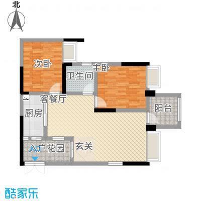 正升・时代港湾8.75㎡2、户型2室2厅1卫1厨