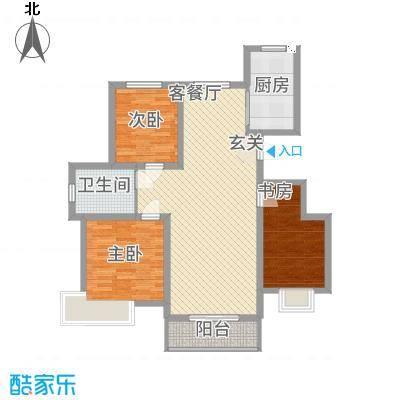 渤海・青青家园112.20㎡C1户型3室2厅1卫1厨