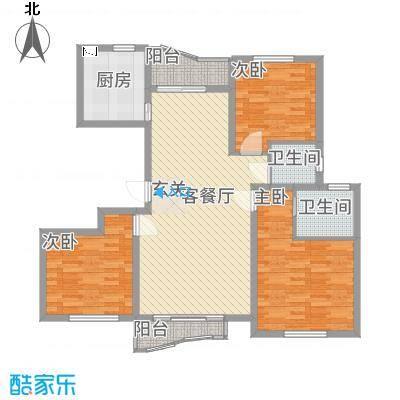 浙建・太和丽都三期135.00㎡hx3户型3室2厅2卫
