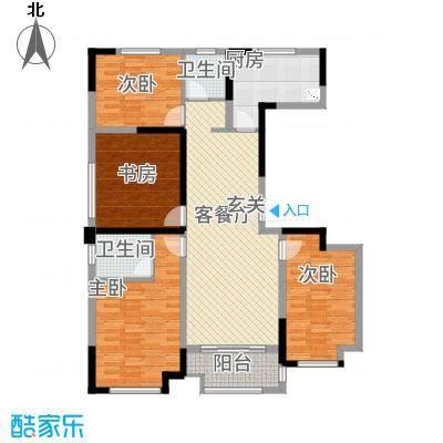 绿地中央花园136.20㎡慢调时光户型4室2厅2卫1厨