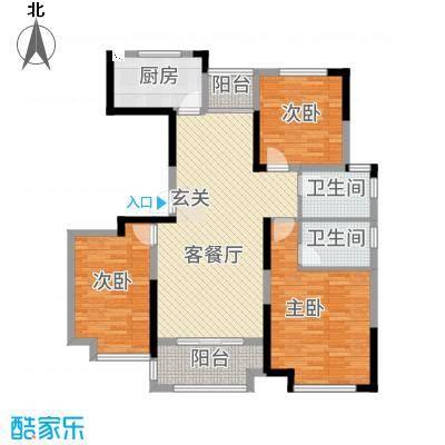 绿地中央花园127.20㎡舞步拉丁户型3室2厅2卫1厨