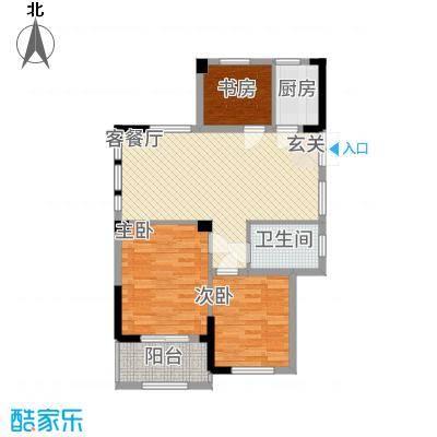 绿洲桂花城11.32㎡G组团怡悦庭户型3室2厅1卫1厨