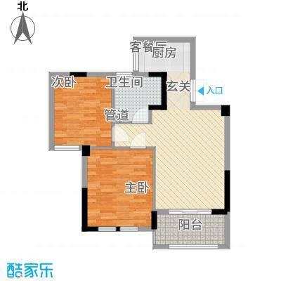 绿洲桂花城84.12㎡G组团悠逸居户型2室2厅1卫1厨