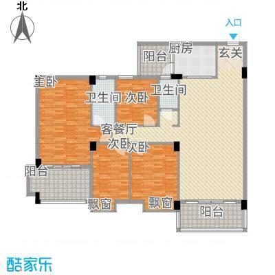 丽景华庭116.56㎡1户型