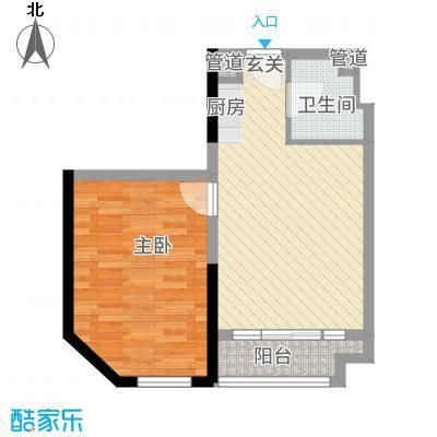 益田枫露71.55㎡公寓Ⅲ户型1室1厅1卫1厨