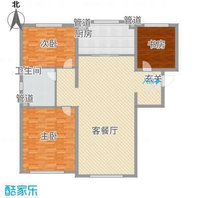 万科海港城186.20㎡1号楼自由马赛户型3室2厅1卫1厨
