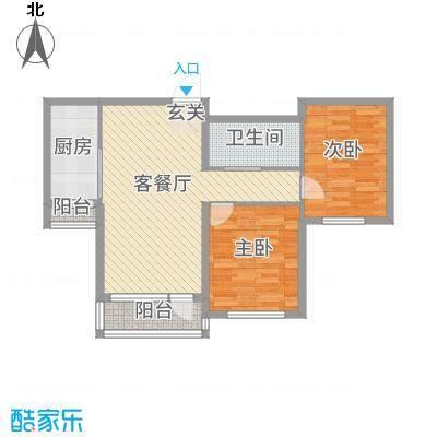 兴达河畔鑫莲7.83㎡兴达河畔鑫莲7号楼D1户型2室2厅1卫1厨