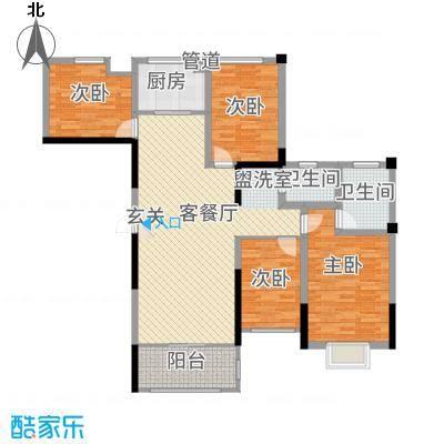 金融街中央领御36135.46㎡3-6号栋A2户型3室2厅2卫1厨