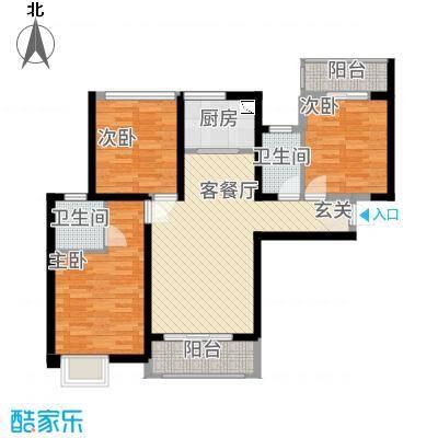 万益广场4618.20㎡4#6#楼A户型3室2厅2卫