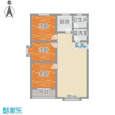 丽景花园125.46㎡多层A户型3室2厅1卫1厨