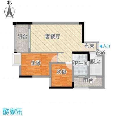 鸥鹏・天境227.83㎡E2户型2室2厅1卫