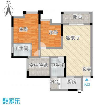 鸥鹏・天境128.22㎡E1户型2室2厅