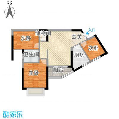 瑞海尚都78387.42㎡7/8号楼户型3室2厅1卫