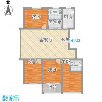 中阳・渤海花园148158.20㎡户型4室4厅2卫1厨