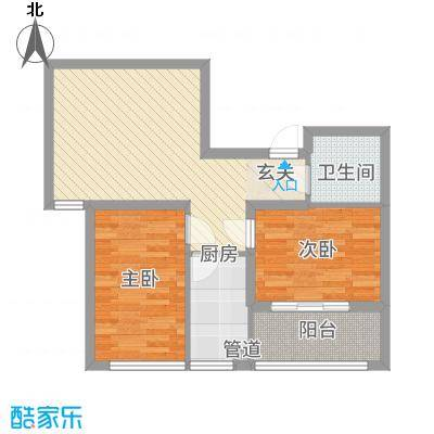 中阳・渤海花园7588.20㎡户型2室1厅1卫1厨