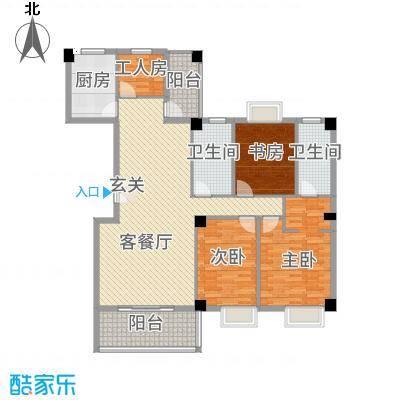 源昌中央领御4153.53㎡4#楼D户型4室2厅2卫1厨