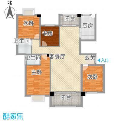 阳光名邸4147.22㎡4号楼A户型4室2厅2卫1厨