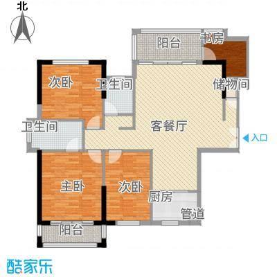 建筑业发展中心户型3室2厅2卫1厨