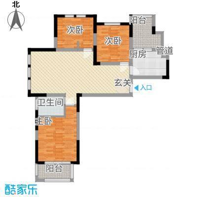 华源上海城三期113.36㎡File0971户型3室2厅1卫