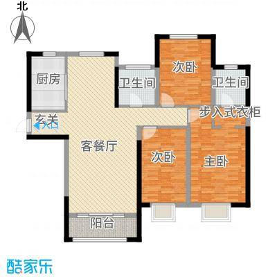 金海名苑3142.20㎡户型3室2厅2卫1厨