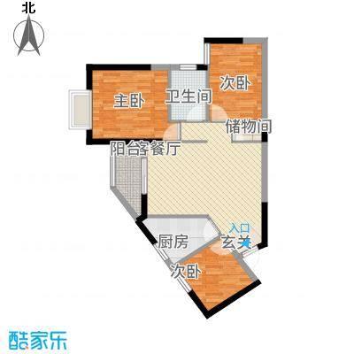瑞海尚都2013418号楼a2户型