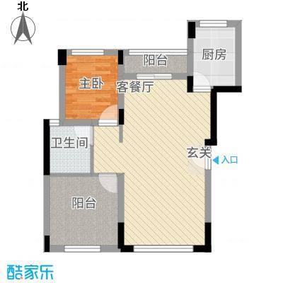 和谐天城172263.14㎡B1D户型2室2厅1卫