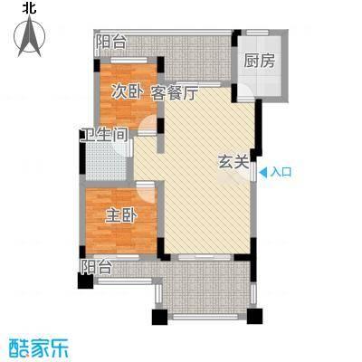和谐天城16226.22㎡C1D户型2室2厅1卫