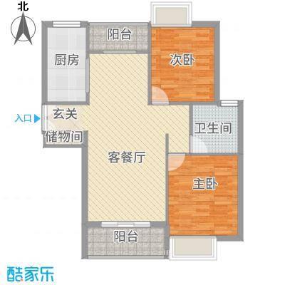 雍福上城3225.20㎡C-户型2室2厅1卫1厨
