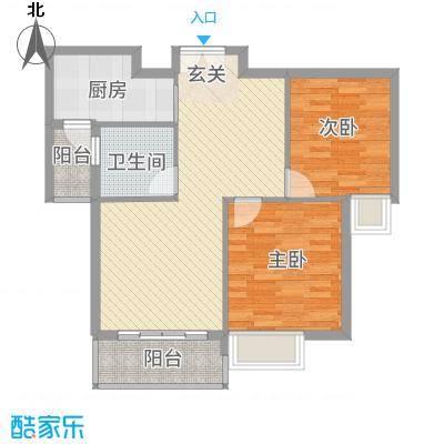 雍福上城22287.20㎡C-户型2室2厅1卫1厨