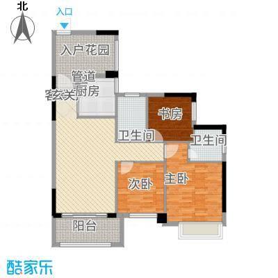 依云小镇3号楼0203单元3室户型3室2厅1卫1厨