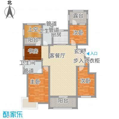 富立・秦皇半岛137.63㎡偶数层A1户型4室2厅2卫1厨