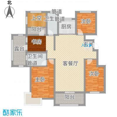 富立・秦皇半岛137.76㎡奇数层A1户型4室2厅2卫1厨