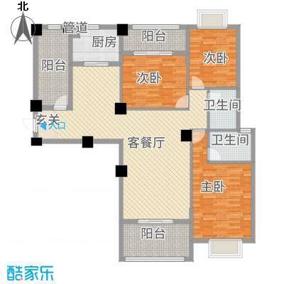 阳光名邸135127.72㎡1、3、5号楼C户型3室2厅2卫1厨