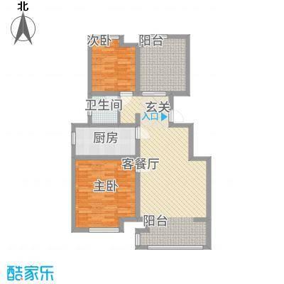 天湖丽景湾8.11㎡I户型2室2厅1卫
