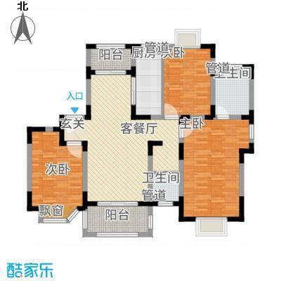 农房・英伦尊邸134.20㎡高层C-1户型3室2厅2卫1厨