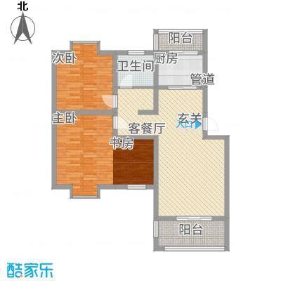 一品和�158.20㎡二期15#楼C户型3室2厅1卫1厨